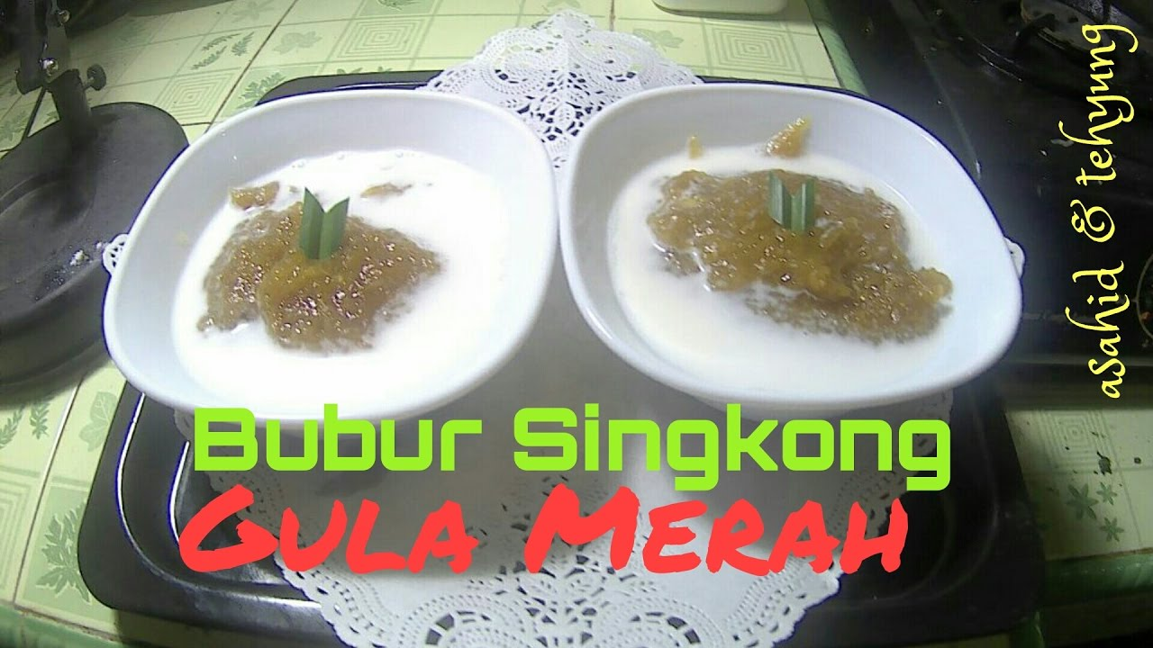 Resep Bubur Singkong Gula Merah How To Make Cassava Porridge With Brown Sugar