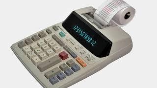 Sharp EL-1801V Portable Compact Printing Calculator 12-Digit 2-Color