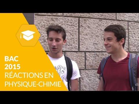 Bac 2015 : les réactions après l'épreuve de physique-chimie