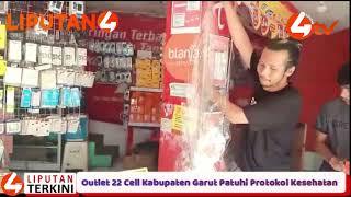 Outlet 22 Cell Kabupaten Garut Patuhi Protokol Kesehatan