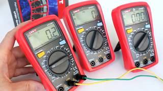 UT33B+, UT33C+, UT33D+ мультиметры Uni-Trend, обзор функциональности, оценка точности измерений