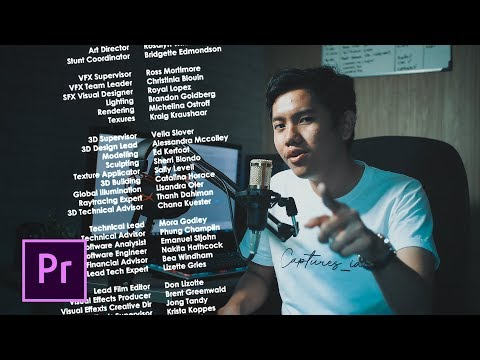2 Cara Membuat Credit Title / Ending Title - Adobe Premiere Pro (Indonesia)