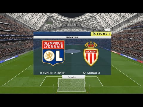 PES 2018 ● Lyon vs Monaco @ Parc Olympique Lyonnais # Ligue 1 Gameplay Pc