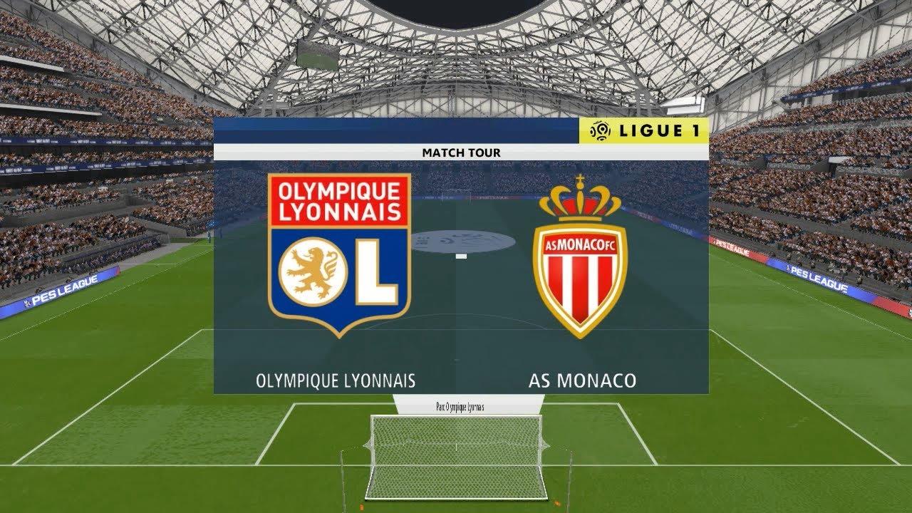 PES 2018 ○ Lyon vs Monaco @ Parc Olympique Lyonnais # Ligue 1 Gameplay Pc -  YouTube