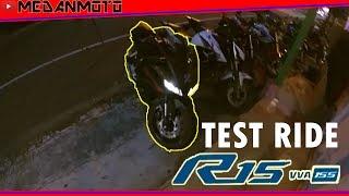Test Ride All New Yamaha R15 V3 155 VVA 2017 | #MedanMotovlogger
