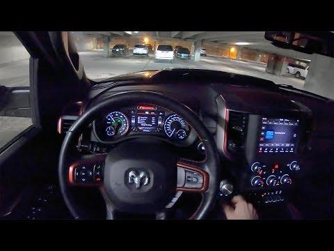 2019 RAM 1500 Rebel 5.7L V8 4WD Crew Cab - POV Night Drive (Binaural Audio)