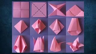 origami ile kagittan Çiçek yapımı 2019