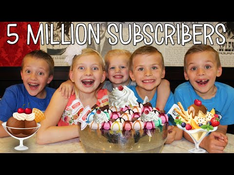 WORLD'S LARGEST ICE CREAM SUNDAE - 5 MILLION Subscriber Celebration
