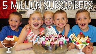 WORLD'S LARGEST ICE CREAM SUNDAE - 5 MILLION Subscriber Celebration