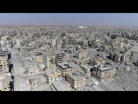 Syria: devastation in former Isis stronghold revealed - drone video