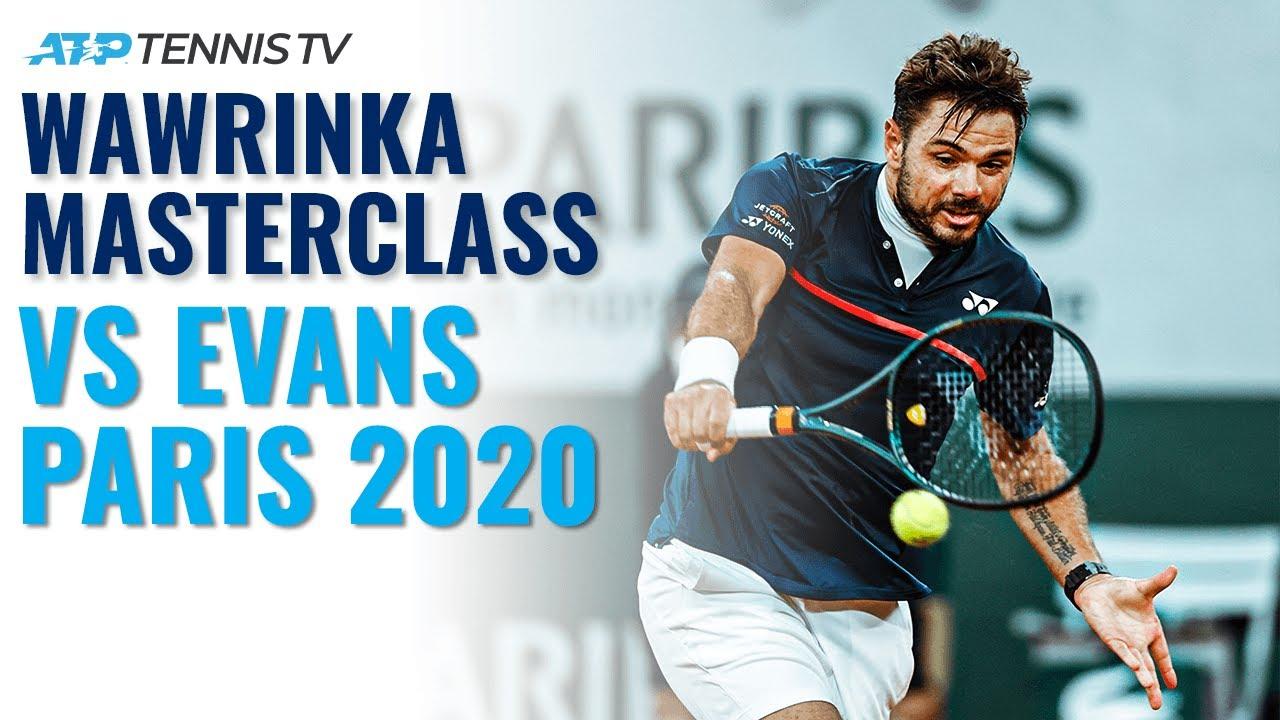 Stan Wawrinka Brilliant Backhand Winners v Evans | Paris 2020 Highlights