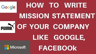 How to Write a Mission Statement for Companies/Startup | Mission Statement Meaning [Hindi]