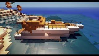 Minecraft - tutoriel petit bateau de luxe / Yacht / hors bord
