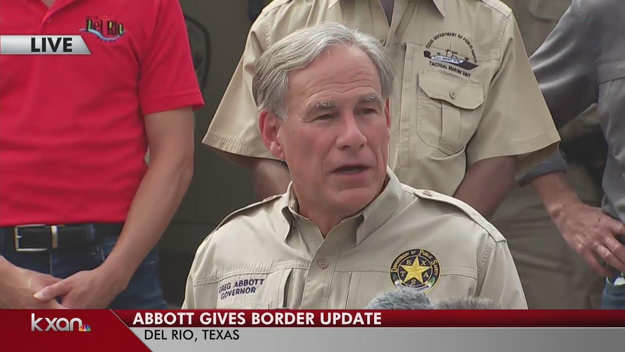 8600 immigrants still in Del Rio, Gov. Abbott calls out Biden ...