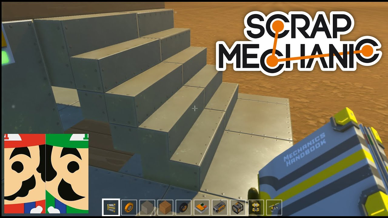 Folding Staircase Folding Staircase Tutorial Scrap Mechanic Episode 07 Youtube