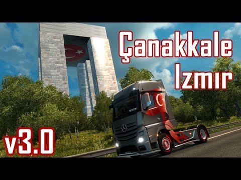 euro truck simulator 2 türkiye haritası çanakkale  izmir v3.0 beta