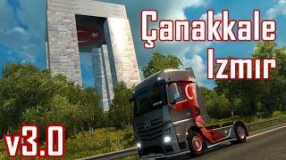 Euro Truck Simulator 2 Türkiye Haritası Çanakkale - İzmir v3.0 Beta
