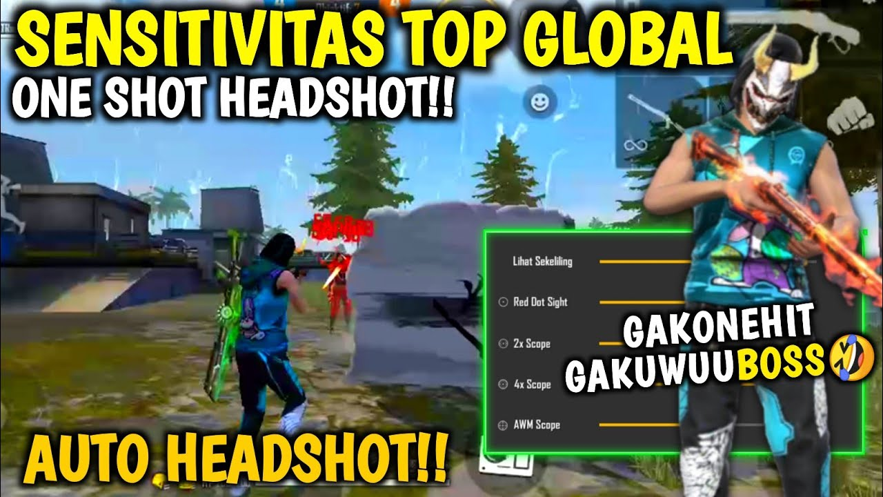 One Shot One Kill⚡Sensitivitas Top Global Auto Headshot👽🎯Free Fire Highlight🔥