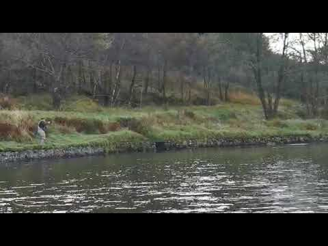 Salmon Fly Fishing 20lb River Orchy Scotland Part 1