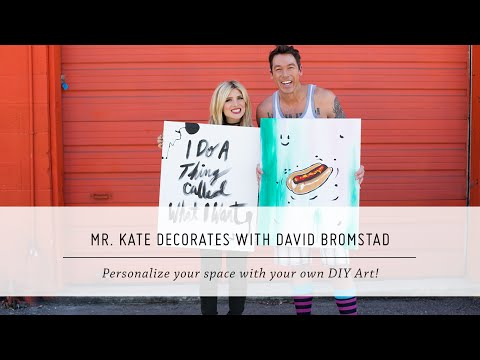Mr. Kate Decorates with David Bromstad | DIY Painting and Decor | Interior Design thumbnail
