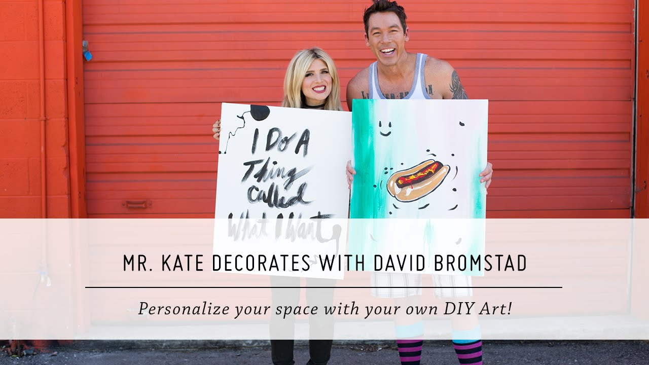 Mr. Kate Decorates with David Bromstad | DIY Painting and Decor | Interior Design