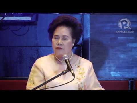 Sen Miriam Defensor-Santiago on cops with estates, a 'haunted' Senate