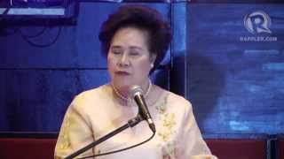 Sen Miriam Defensor-Santiago on cops with estates, a 'haunted' Senate
