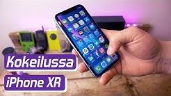iPhone XR Android-käyttäjän käsissä