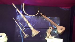 Old Indian musical Instruments displayed in Goa