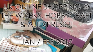 £ UK Craft & Planner Online Haul at The Works, Hobbycraft and AliExpress Jan/Feb 2017 £