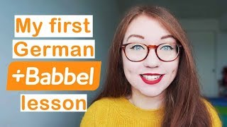 Baixar My first German lesson on Babbel + Thoughts about starting a new language