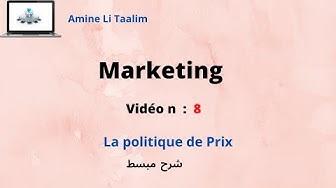 Marketing (Darija) : La politique de prix