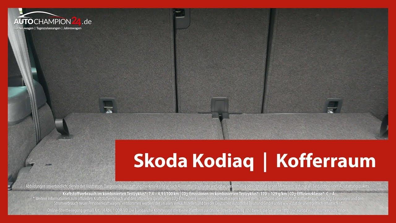 skoda kodiaq kofferraum maße