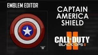 Captain America Shield (simple) - Black Ops 2 Emblem Tutorial