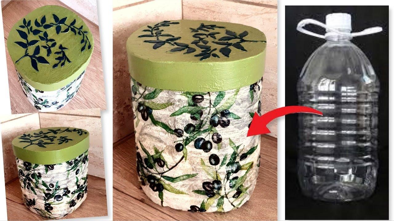 DIY /Kitchen Storage Container from Plastic Bottle