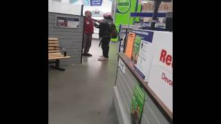 Guy flipping out at lowes