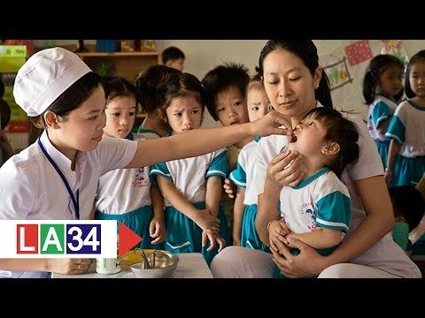 Long An đồng loạt cho trẻ em uống Vitamin A | LATV