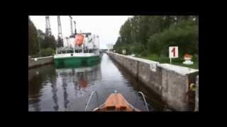 Река Свирь Нижнесвирский шлюз Спуск(, 2013-03-03T12:11:56.000Z)