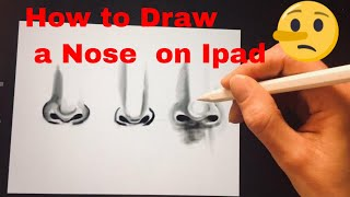 How to draw a Nose Apple Ipad 2018 Drawing