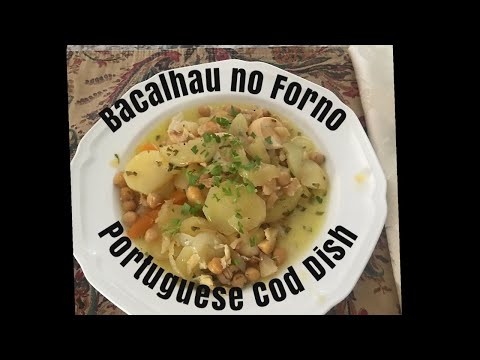 Portuguese Cod Fish Recipe || Bacalhau No Forno || Portuguese Food