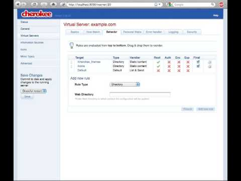 Cherokee Web Server - Introduction
