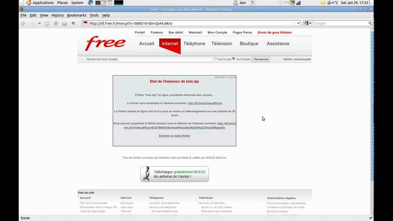 comment telecharger sur dl free fr