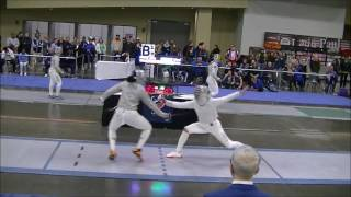 2017 Jan NAC Div I Women's Saber Semis: Moss vs. Aksamit
