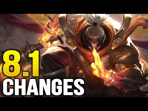Changes coming soon in 8.1- First patch of SEASON 8! (League of Legends)