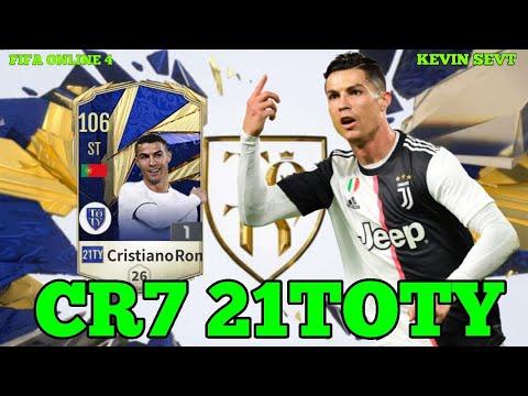 CRISTIANO RONALDO 21TOTY FIFA ONLINE 4 | Siêu ST gánh team
