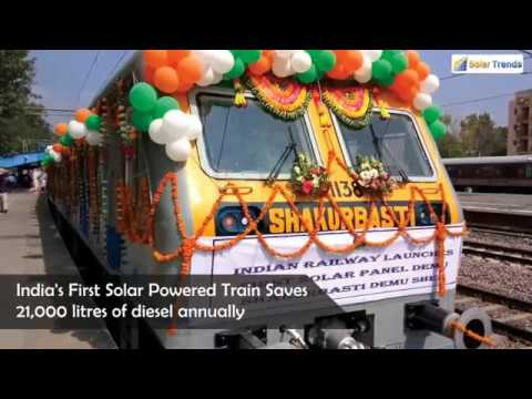 India's First Solar Powered Train