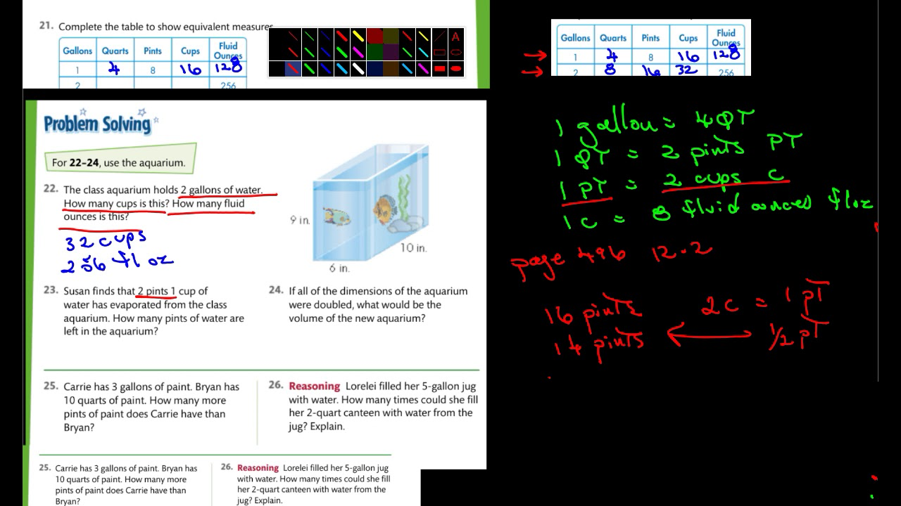 5th Math Envision 12-2 pg 496 - YouTube