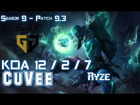 Gen CuVee RYZE vs YORICK Top - Patch 9.3 KR Ranked