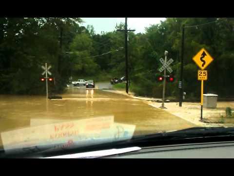 Sandhill Rd Vernon, NJ during Hurricane Irene
