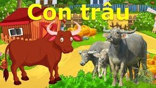 Con vật và tiếng kêu   em bé học nói động vật con trâu con bò con gà   Dạy trẻ thông minh sớm